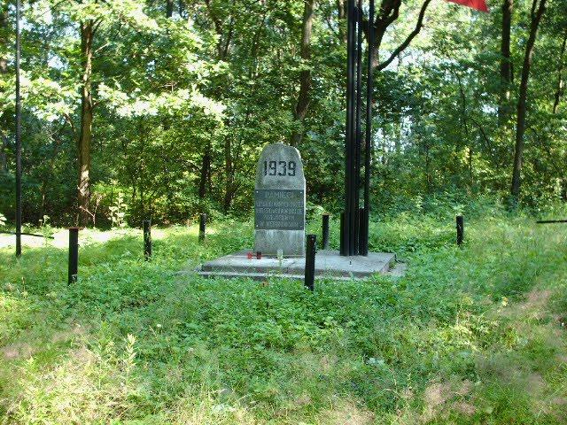 Pomnik w miejscu śmierci kpt. Jana Kotucza