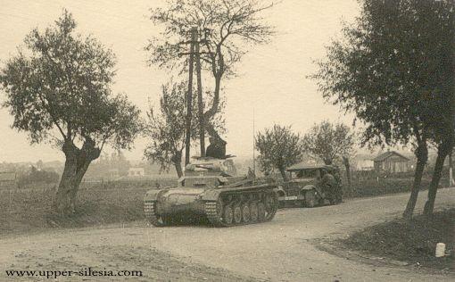 Niemieckie czołgi w okolicy Rybnika