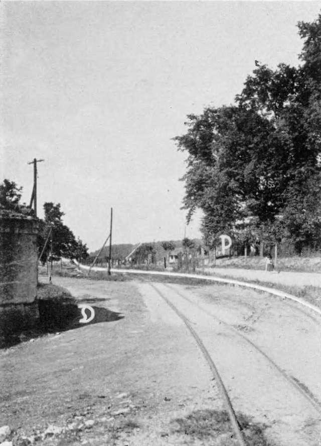 Granica polsko niemiecka na Lukasynie (Lukasine) na ulicy Rybnickiej, 3 km przed Raciborzem w 1922 r.
