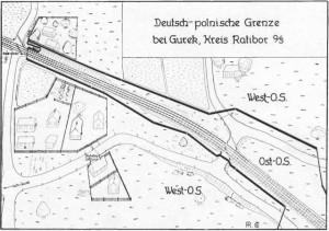 Granica w okolicach torów kolejowych