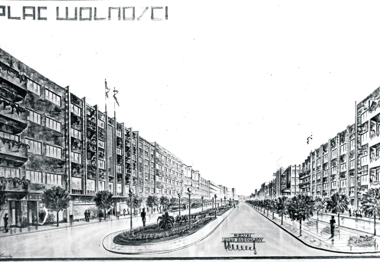 Burmistrz Władysław Weber miał wielkie plany zabudowy Rybnika, które przerwała II wojna światowa. Tak wg projektu miał wyglądać Plac Wolności i ul. Łony.