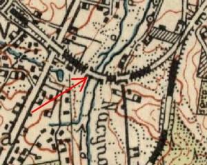 Wiadukt na mapie WIG z roku 1933