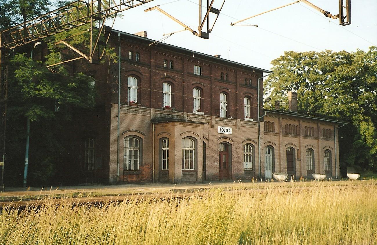 Stacja kolejowa w Toszku