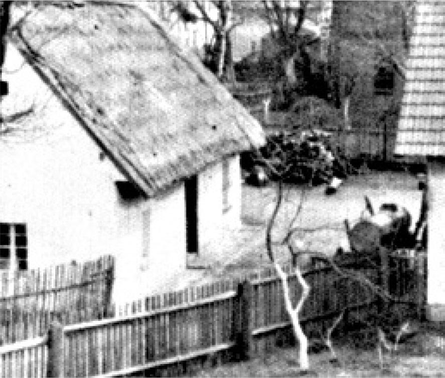 Dom Franciszka Gruszczyka. Spłonął w marcu 1945 r.