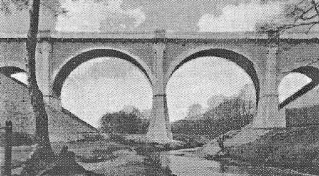 Most kolejowy nad Rudą na Paruszowcu przed zniszczeniem w 1945 r.