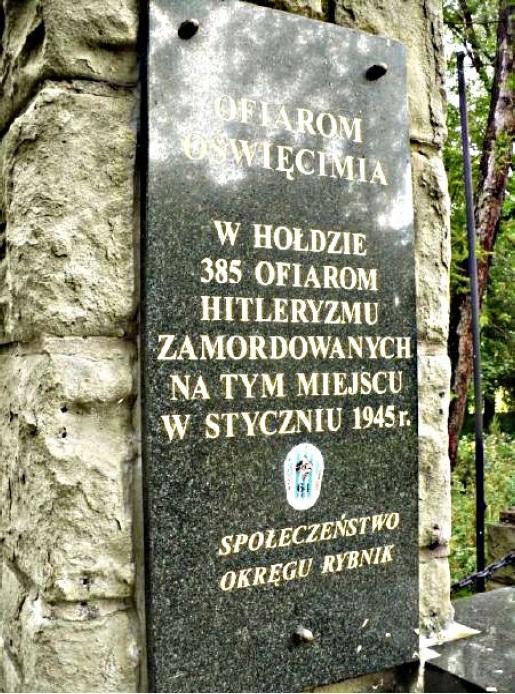 Pomnik ofiar Auschwitz w Rybniku