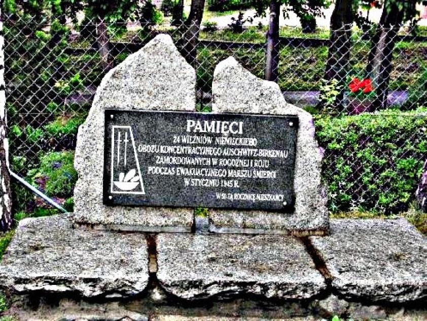 Pomnik 24 więźniów oświęcimskich zamordowanych w Roju