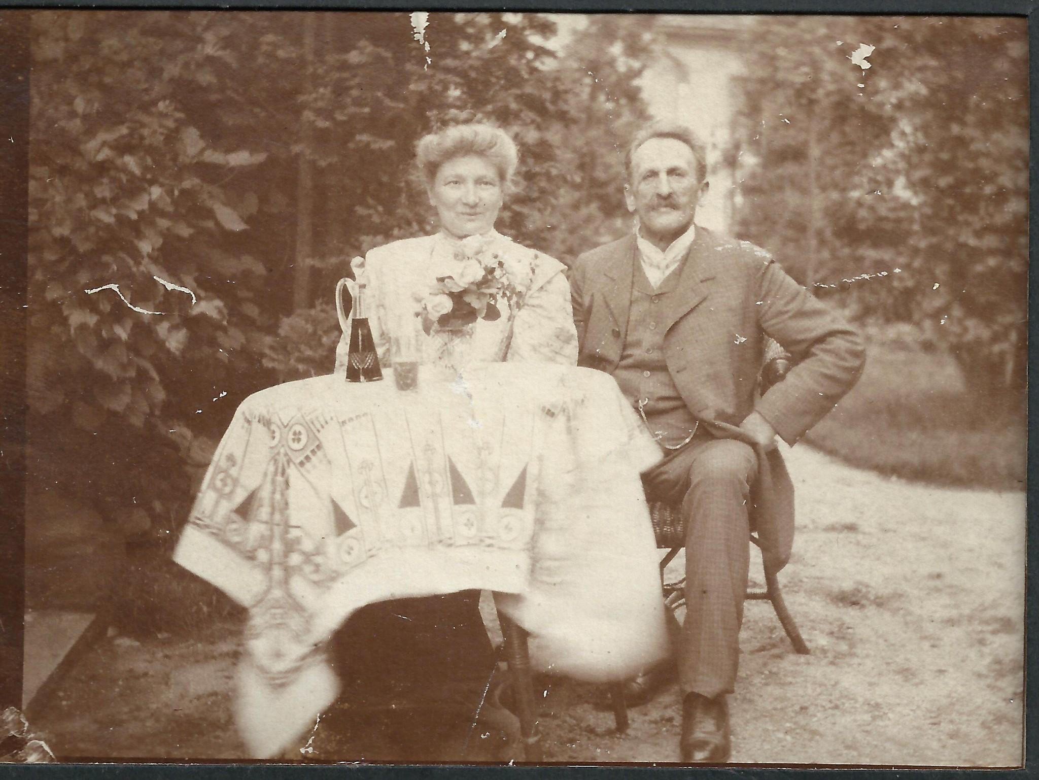 Juliusz Haase z żoną Bertą (ok. 1905 r.)