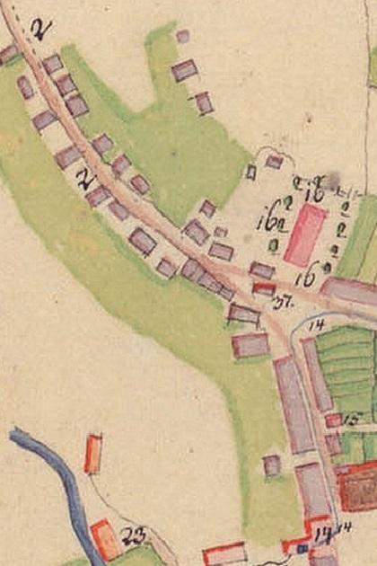Ulica Rudzka i Plac Kościelny w 1810 r.