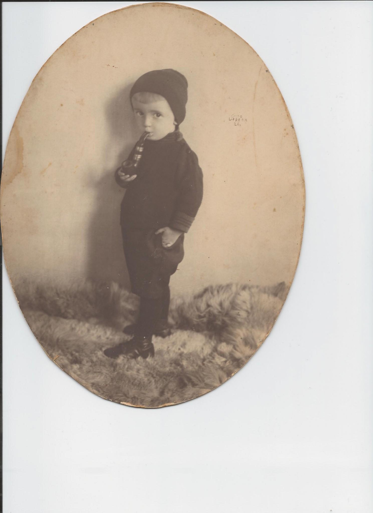 Hans Manneberg jako dwulatek