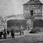 Średniowieczna wieża obronna w Górkach Śląskich.