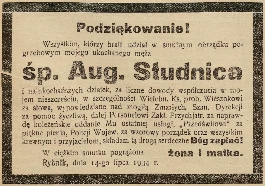 Sztandar Polski i Gazeta Rybnicka, 1934, R. 15, Nr. 82